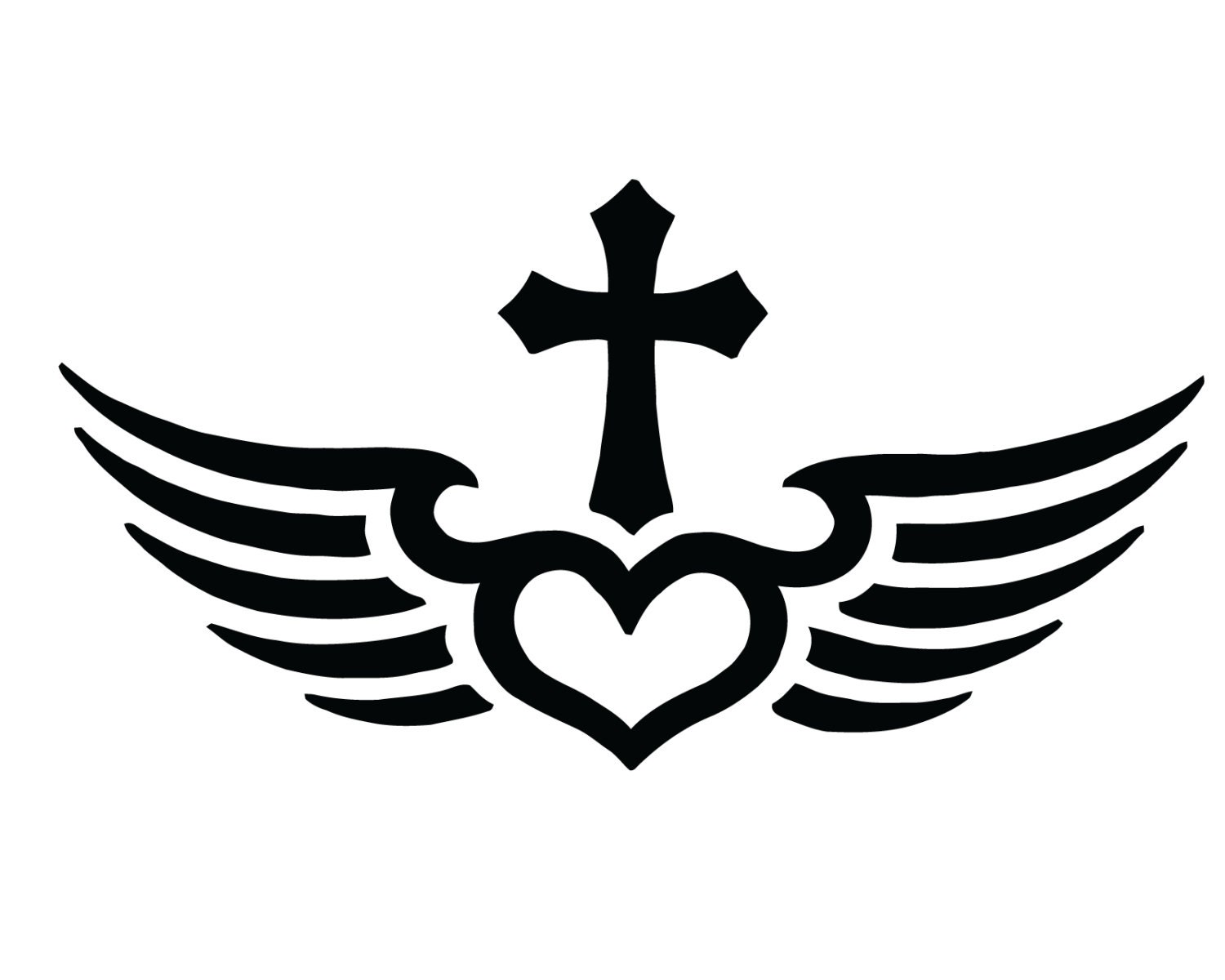 Fly with christ cross decal christian jesus cross heart etsy
