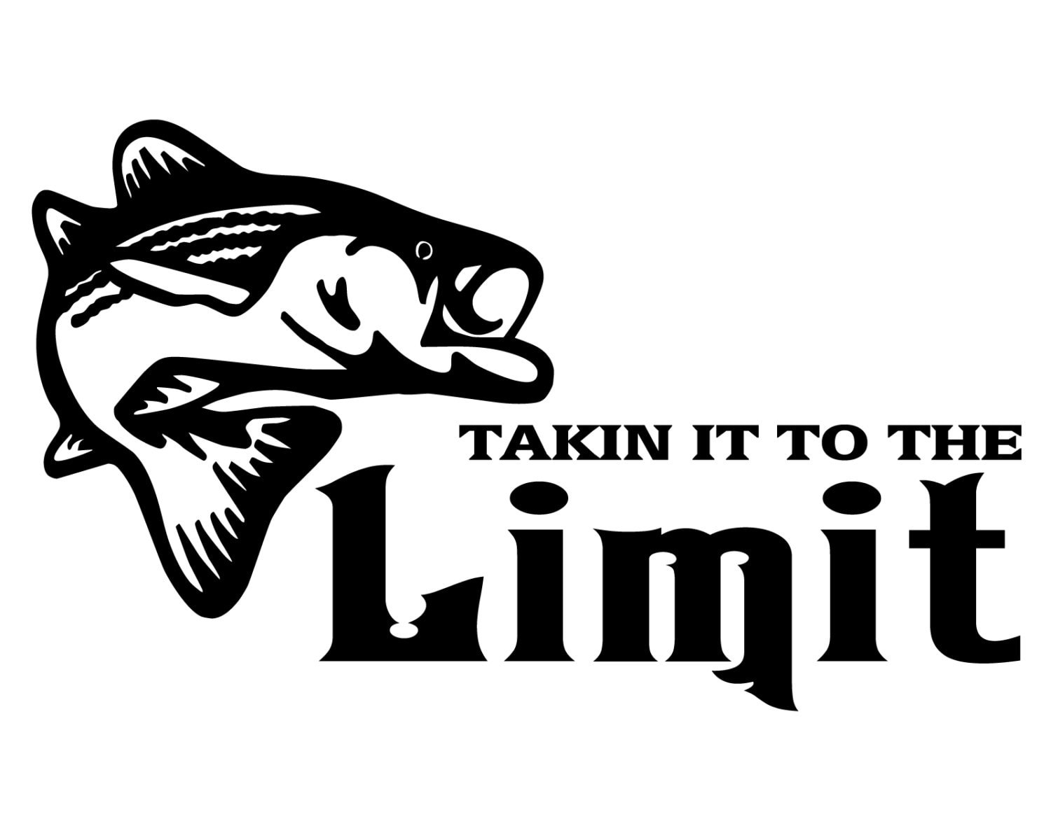 bass fishing decal takin it to the limit fish sticker bass etsy 24 FT Thor Motorhomes