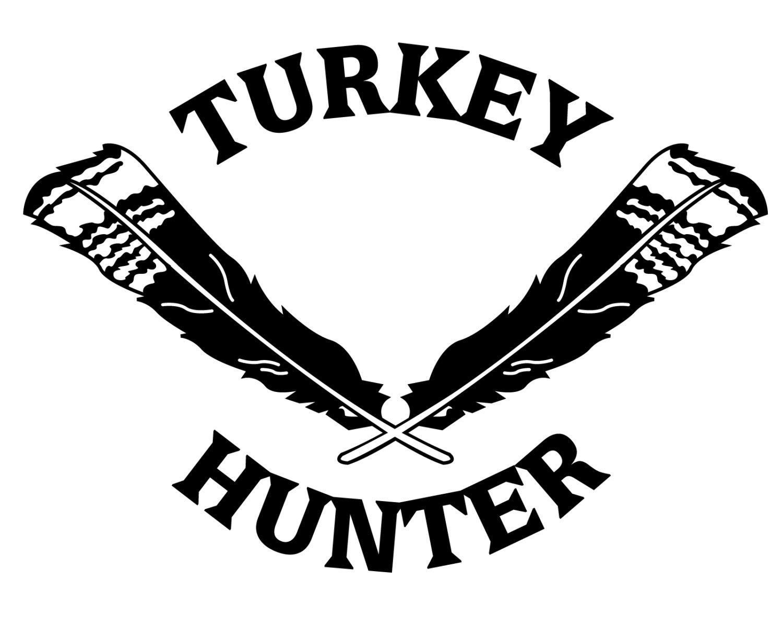 Turkey hunting vinyl decal turkey hunter sticker turkey etsy
