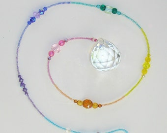 bde5c5c05ff9 CA-94 Chakra Pastel Clear Room Accessories Colorful House Accent Rainbow  Maker Crystal Glass Beads Feng Shui Charms Suncatcher Vortex Energy