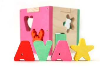 Kids and Baby Toy / Baby and Toddler Toy / Baby Toy / Toddler Toy / Wooden Toy / Personalized Gift / Wooden Shape Sorter / Personalized Toy