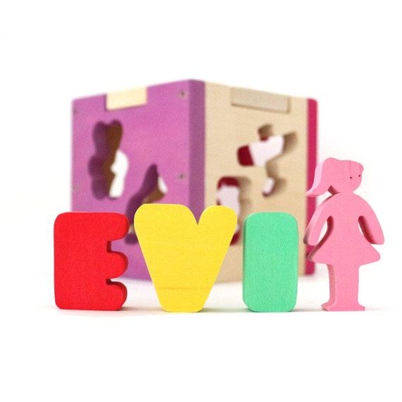 Kids And Baby Toy Name Blocks Baby Blocks Wood Blocks Baby Etsy