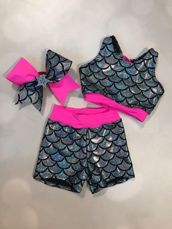 6bb6bad6ff The Ava Silver Mermaid Scales Neon Pink sports