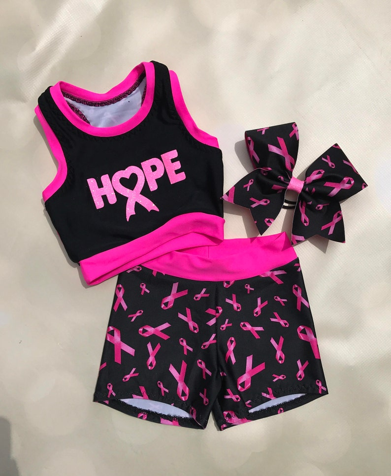 349815d005a8 The HOPE Cancer Awareness Sports Bra Spandex