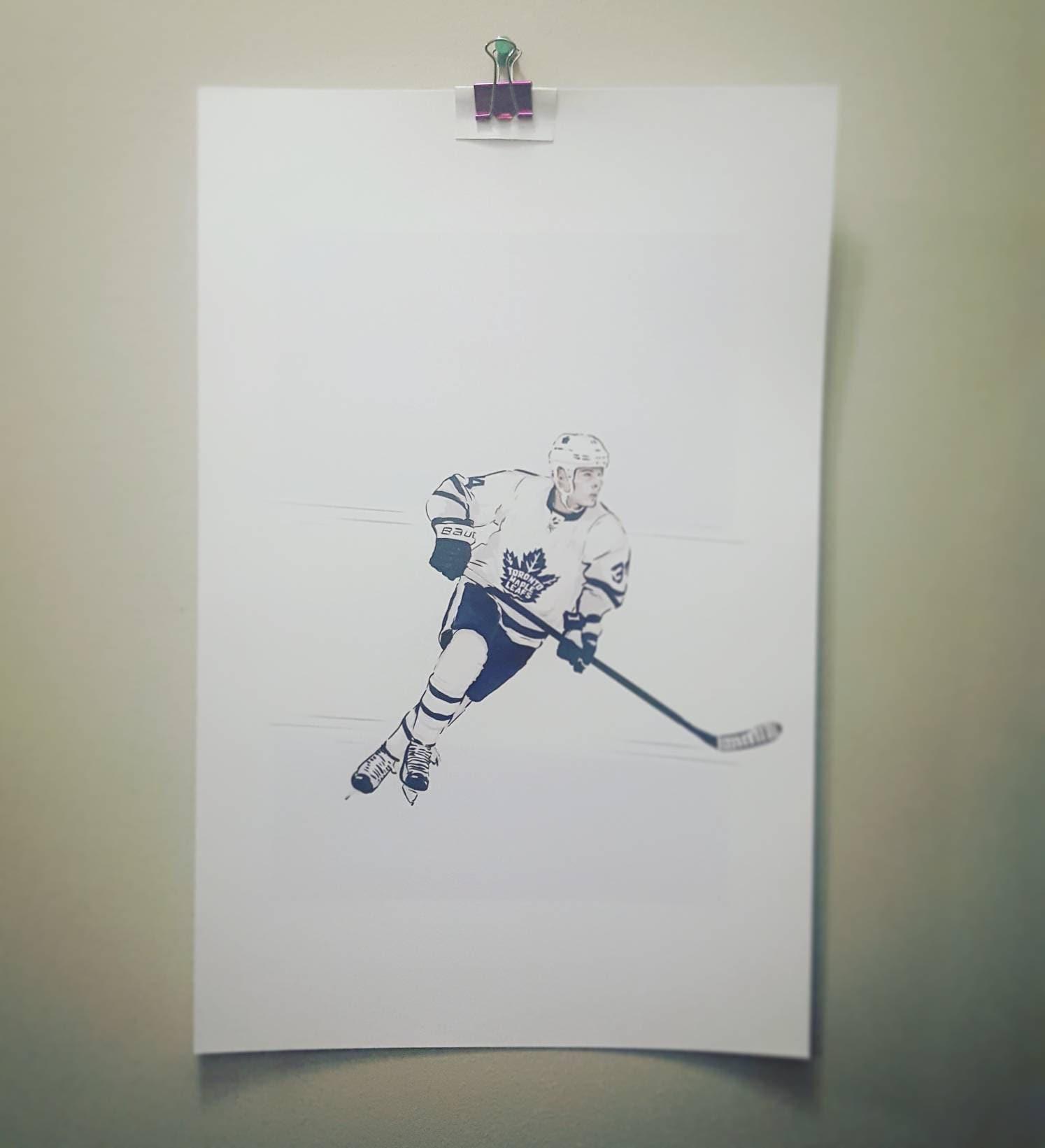 Auston Matthews Toronto Maple Leafs High Quality Print Etsy