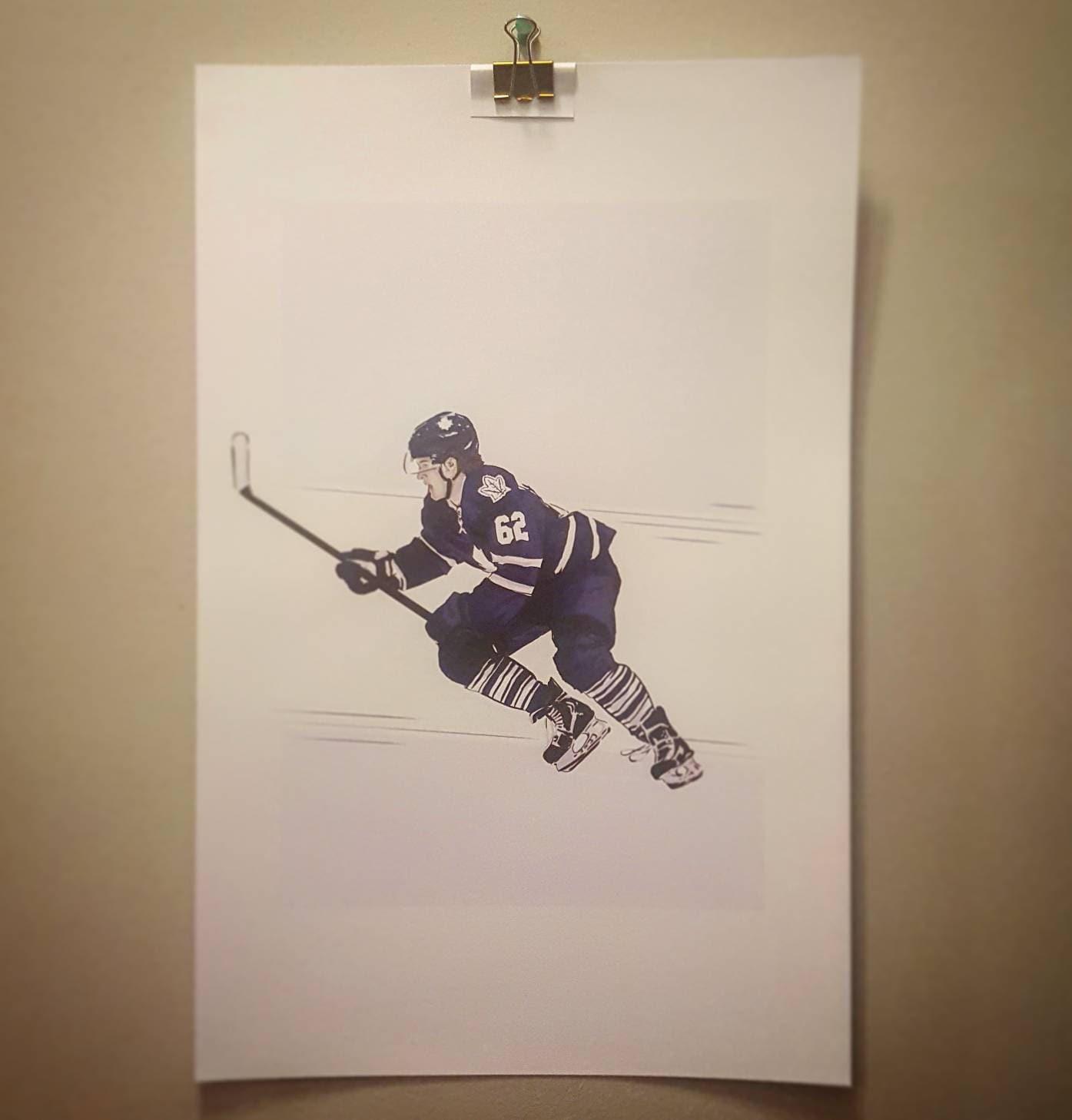 William Nylander Toronto Maple Leafs High Quality Print Etsy