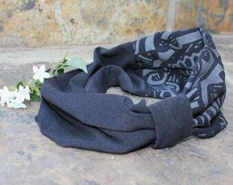Yoga hair band , Head band , Bandanna ,  Hair accessory , Head turban , Head wrap , Ear warmer