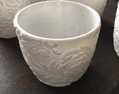 handmade porcelain tea cups or candle holders - Set of 5