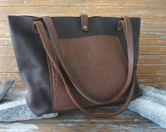 Calf Leather and Water Buffalo Tote Bag - Limited Edition