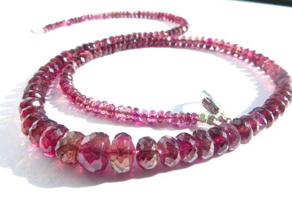 dae71249aa88 Fabelhafte Pink Turmalin Edelstein Kette   Rubellit Turmalin   Etsy