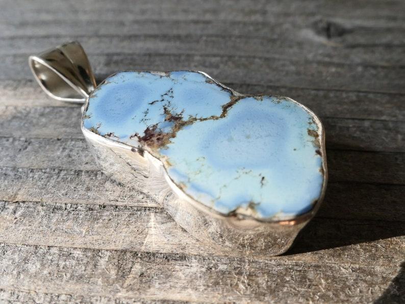Turquoise pendant Natural gemstone 925 Silver pendant gift  birthday gift jewelry  silver pendant Kazakhstan turquoise TK13 blue
