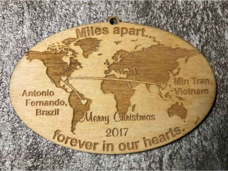 USA Shape Ornament, Foreign Exchange Student Ornament, State Christmas  Ornament, USA Christmas Ornament, Host Family Ornament
