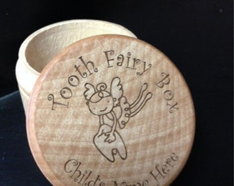 Tooth Fairy Box - Personalized Wooden Tooth Fairy Box - Custom Laser Engraved Tooth Fairy Box - Loose Tooth - Tooth Fairy Under Pillow