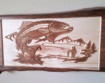 Nature scene carving etsy
