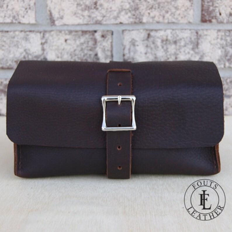 6b76c3da0 Bolsa de viaje marrón cuero hechos a mano neceser cuero Dopp | Etsy