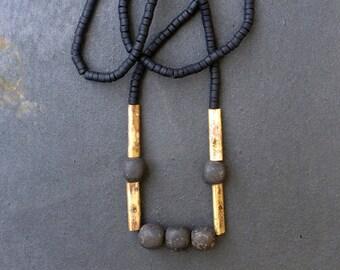 Long Necklace, Long Boho Necklace, Pendant Necklace, Big Long Necklace, Wabisabi Rustic Necklace, Tribal Statement Necklace, Rustic Necklace