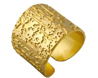 GoldFilled Ring, Statment Ring, Goldfilled Band Ring, Wide Ring, Wide Band, Goldfilled Cuff Ring, Adjustable Ring, Tube Ring, Women Ring