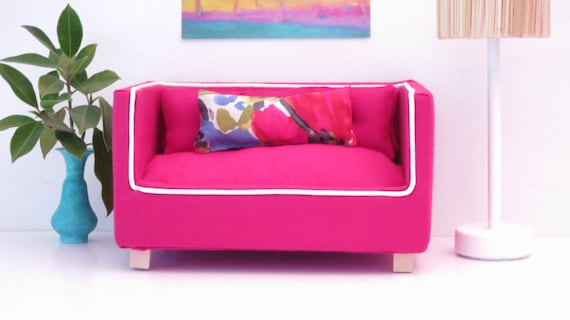 Outstanding Cherry Red Barbie Sofa Bralicious Painted Fabric Chair Ideas Braliciousco
