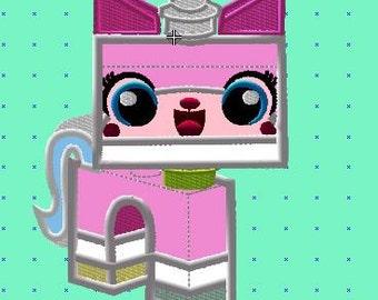 1 x LEGO MOVIE UNIKITTY GIRLS BIRTHDAY PERSONALISED INVITATIONS FREE MAGNETS