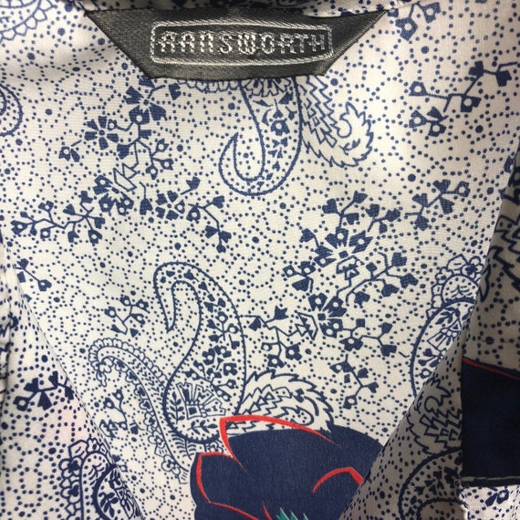 70s paisley/floral button up - image 2
