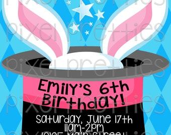"MAGIC Birthday Party Invitation - High Resolution - 5""x7"" - PRINTABLE Digital File"