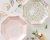8 Ditsy Floral Paper Party Plates, Floral Wedding Plates, Afternoon Tea Party Plates, Floral Birthday Plates, Floral Party Decorations