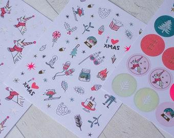 Do-crafts déjouée Stickers-Créez Noël trad Avent pour Cartes ou Artisanat