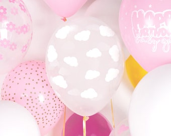 Birthday Balloons white cloud Foil Balloons Baby Shower Birthday Party Decor nSK