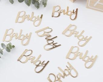Ready to Pop Confetti Pregnant Lady Baby Shower confetti  30 CT.