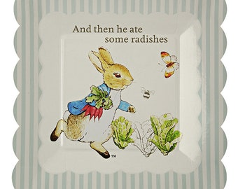 Peter Rabbit Small Scollop Edge Paper Plate X 12 - Party / Christening