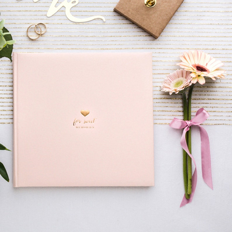 Guest Book For Sweet Memories Powder Pink 22 Pages Wedding Keepsake