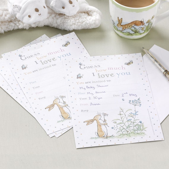Guess How Much I Love You Christening Invitations