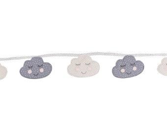 Sweet Dreams Fabric Cloud Bunting 2m  Nursery Childrens Bedroom D