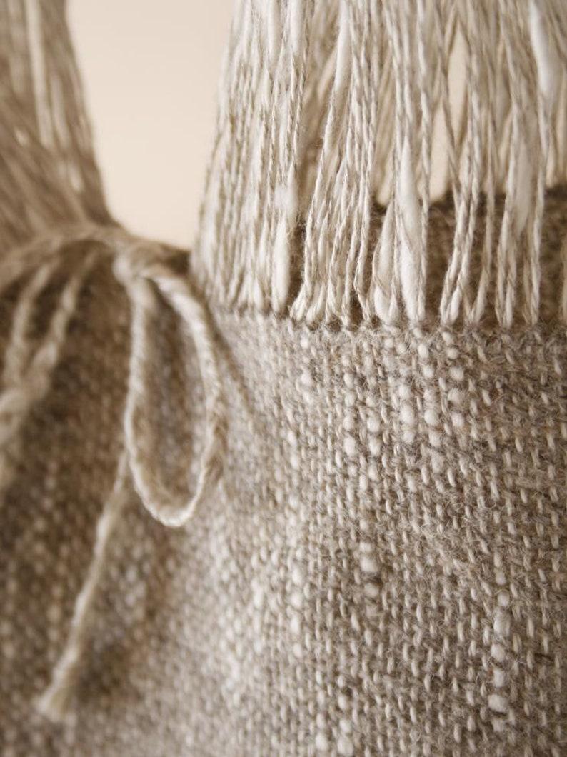 LinenWool Handwoven Tote Bag