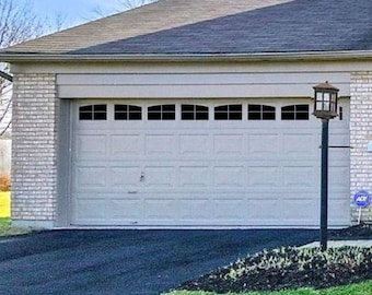 Carriage House Style Faux Garage Door Windows For Wide