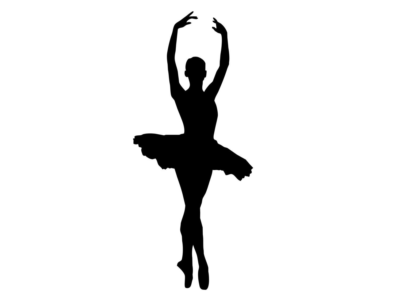 Tall Dancing Ballerina Silhouette Ballet Dancer VINYL