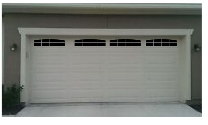 Carriage House Style Faux Double Garage Door Windows With Wide Etsy