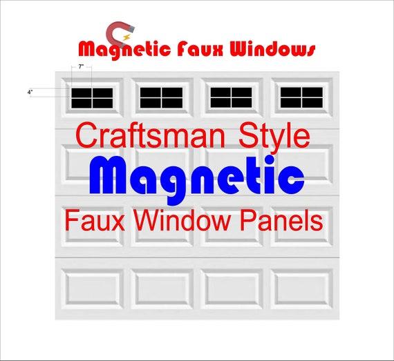 Magnetic Faux / Fake Garage Door Window Panels Craftsman
