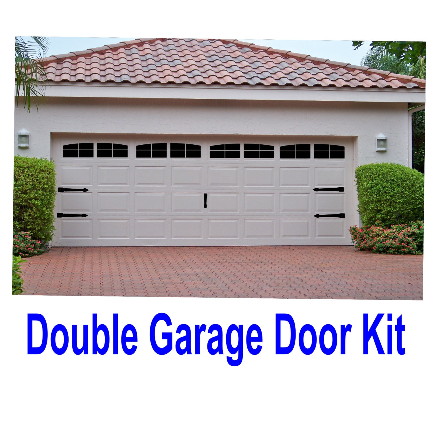 Garage Door Vinyl Window Decals: Carriage House Style Vinyl Garage Door Decal Kit Faux