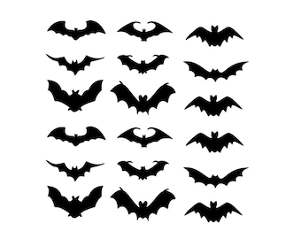 18 Flying BATS - Graphic Art Decals for Car or Laptop - DIY Art