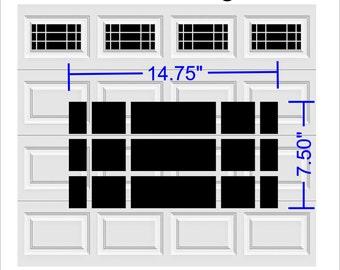 Prairie Faux Window Garage Door Vinyl Decals Fits 8 x 15 & up