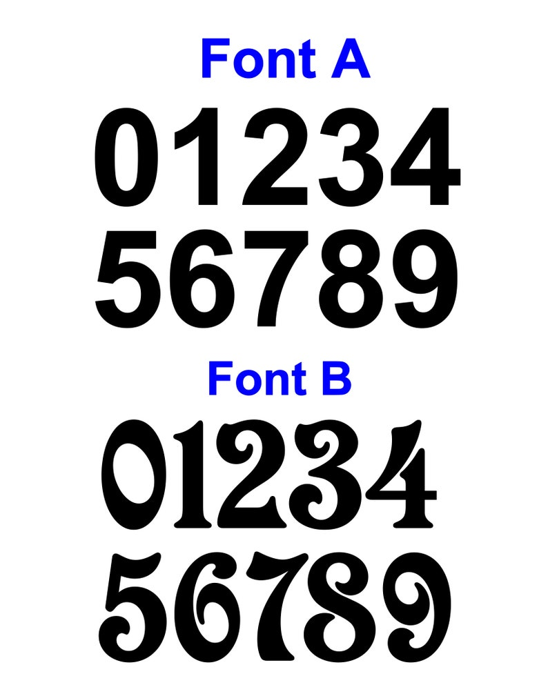 - Stock Rally Car Race Car Numbers Set Vinyl Decals 2x Select Size /& Color