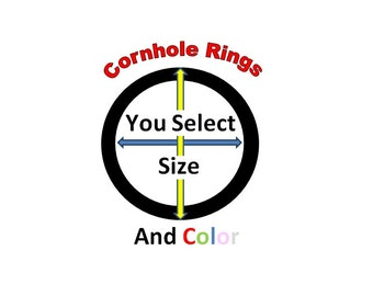 CORN HOLE Rings / Circles Vinyl Decals / Stickers - Select Color and Size  - Cornhole Fun for Everyone !!