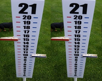 Set of 2 Scoreboard Score Keeper - Red White Blue Black - Easy Read Numbers - Cornhole - Ladder Ball - Horseshoes - Washer Toss