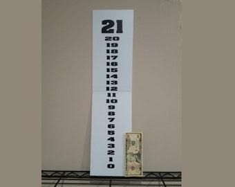HUGE 24 inch x 6 inch Cornhole Score keeper Scoreboard - Please Read the Description