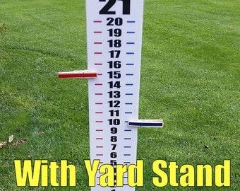 "Cornhole Scoreboard Score Keeper - Easy Read - With YARD Stand - 44"" Tall Assembled"