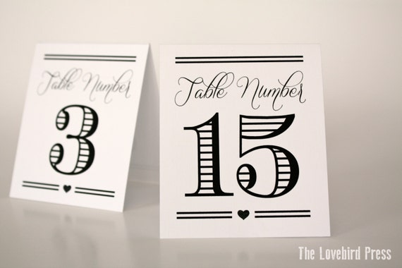 printable table tent numbers tent fold table numbers 11 20 etsy
