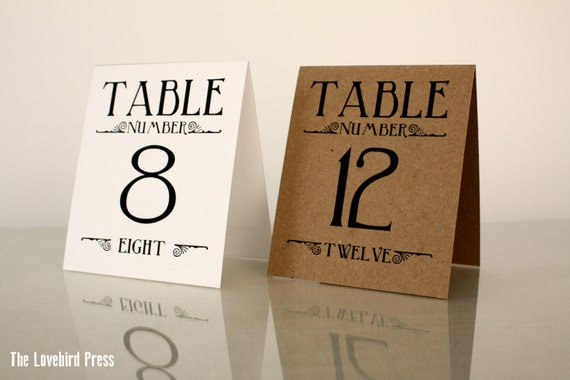 printable wedding table numbers 1 10 table tents rustic etsy