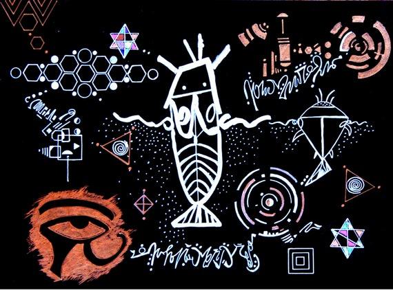 Sirian Starseed Awakening 8 x 12 Luster Print Artist Salo Stanley