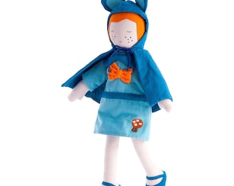 Fair trade Bluebell, forest, woodland waldorf soft Doll